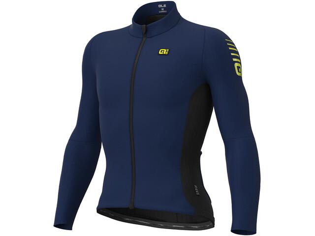 Alé Cycling Clima Protection 2.0 Warm Race Maillot Manga Larga Hombre, blue